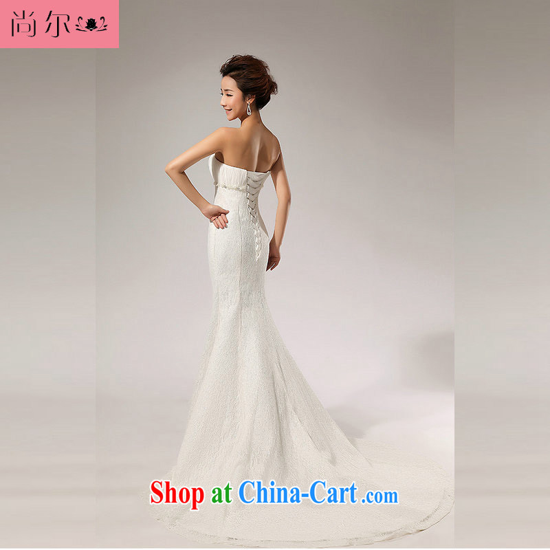 Taiwan, Korea, Princess wedding dress lace bare chest bridal wedding dresses wedding toast serving long skirt XS 2055 white XXL
