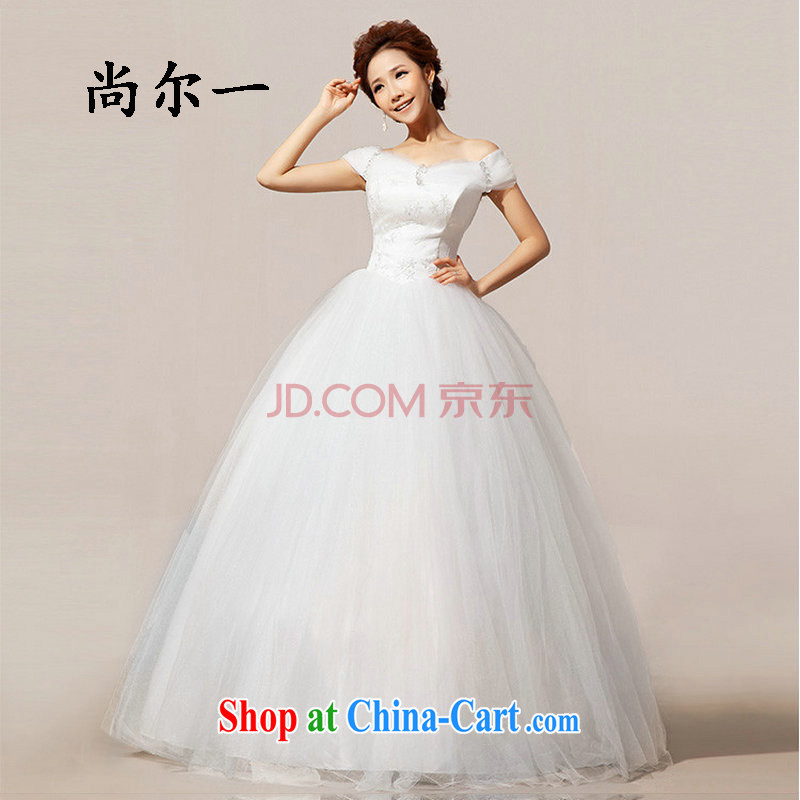 Taiwan's population 2014 new bridal wedding dresses the Field shoulder wedding Princess shaggy wedding XS 1933 white XXL