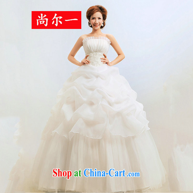 Taiwan's Silk wedding dresses wiped chest bridal with shaggy dress Princess winter wedding XS 2056 white XXL