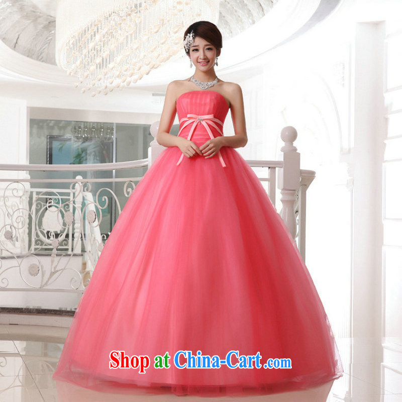 Taiwan's population 2014 wedding dresses Korean Princess shaggy with wedding bridal journey Mary Magdalene yarn chest candy colored XS 2057 package XXXL