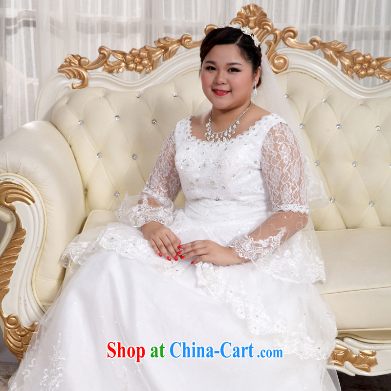 Moon ? guijin 2013 new wedding dresses larger wedding lace long-sleeved tie with wedding BHS 18 m White XXXXL scheduled 3 Days from Suzhou shipping