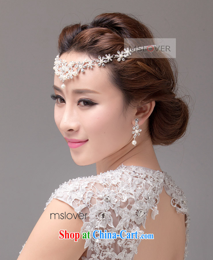 MSLover Daisy dumping the bustling Pearl crystal bridal Crown Kit link marriage jewelry wedding accessories kit S 130,812 silver crown necklace earrings 3 piece set (ear-clips, pictures, price, brand platters! Elections are good character, the national distribution, so why buy now enjoy more preferential! Health