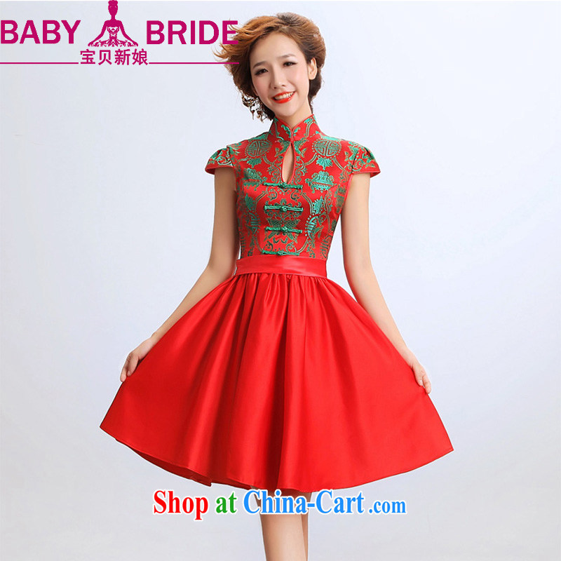 Baby bridal 2014 new summer stylish stars, with their performances Hosted Service Bridal wedding dresses red waist 2 feet 4