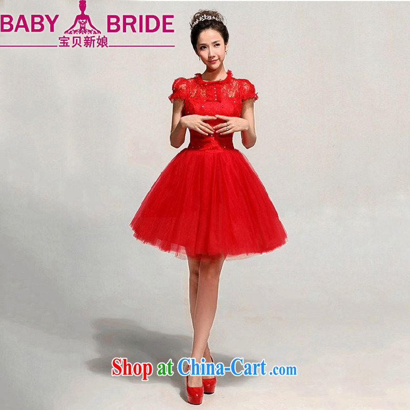 Baby bridal wedding dress red lace short bows clothing bridesmaid wedding evening gown red waist 2 feet 4