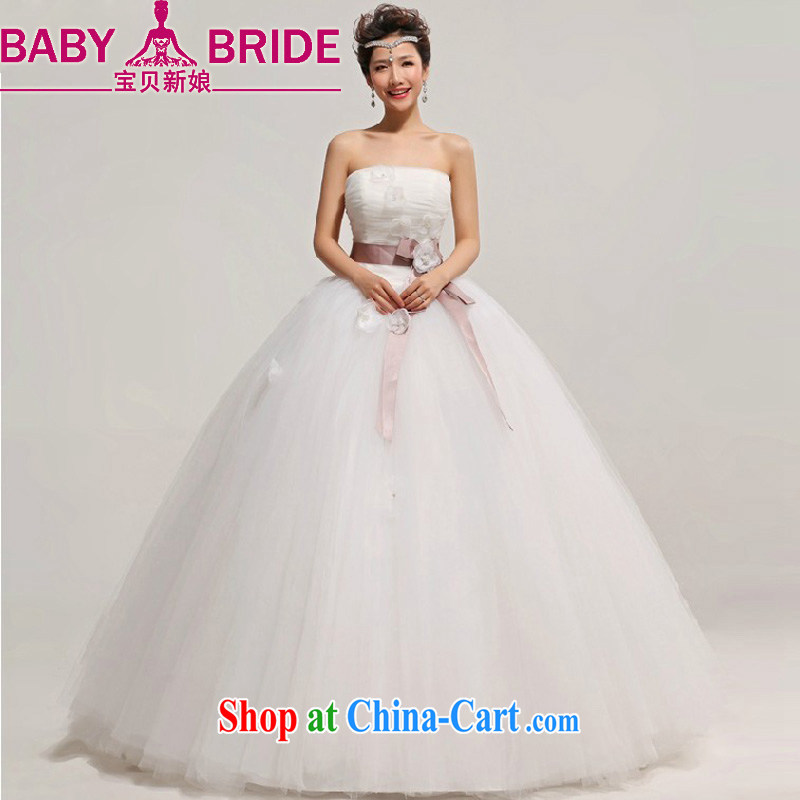 My dear bride Korean Princess bride wiped his chest, wedding dresses 2014 new large, pregnant women custom white XXL