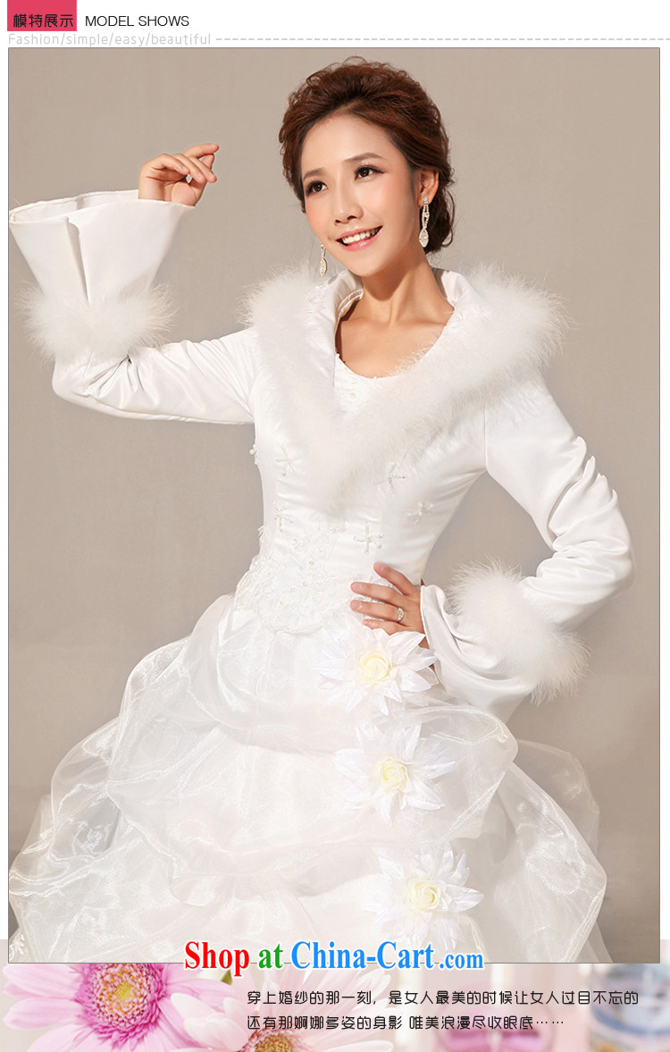 Baby bridal wedding dresses new 2014 winter wedding with hair style ...