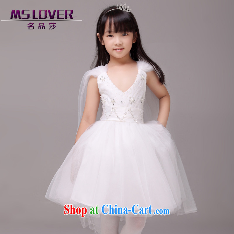 ares MSLover fairy shaggy dress flower dress children dance stage dress wedding dress 5879 white 8