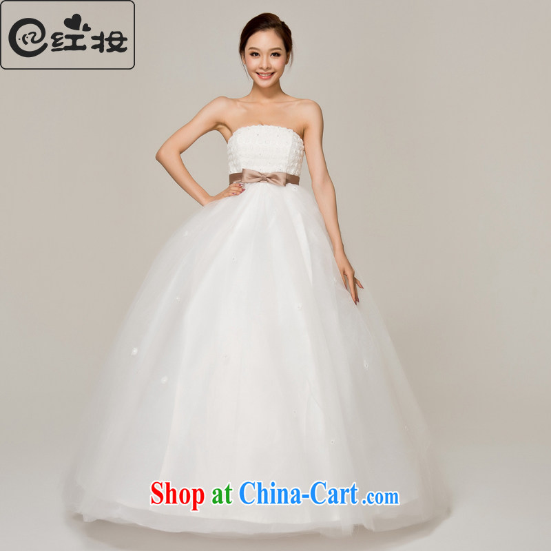Recall that Namibia Red spring and summer Korean pregnant wedding high waist bow tie new with bare chest strap sweet Princess 2015 new H 12,144 white XL