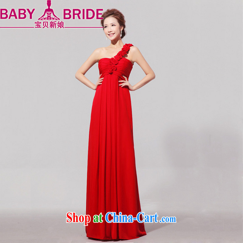 Baby bridal summer clothing women's clothing 2014 New Star magazine Red long, with evening dress bridal dress red XXL