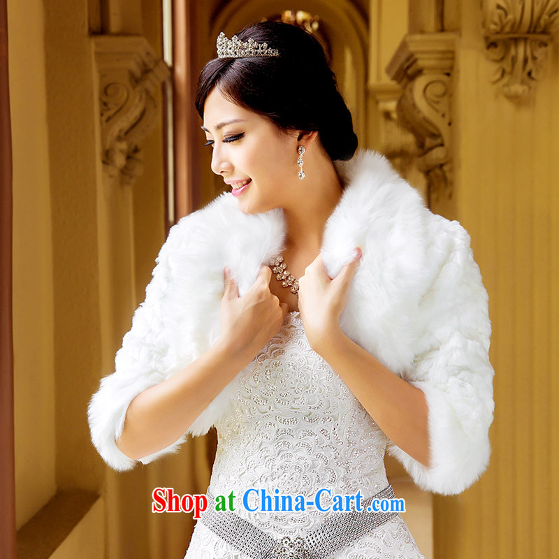 The bride's wedding dress shawl dress shawl bridal shawl warm shawl bridal long-sleeved shawl 011