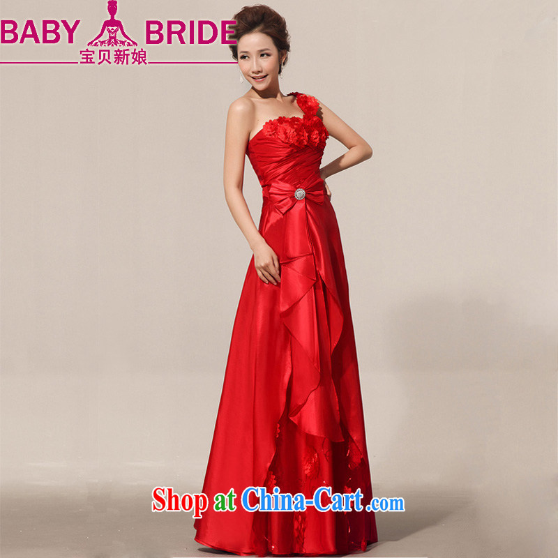 Baby bridal 2014 new summer beauty red retro bride toast wedding service atmospheric Evening Dress red XXL _Upgrade tie_