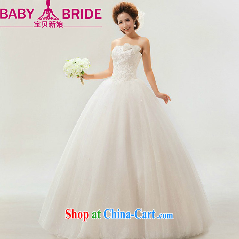 Baby bridal 2014 new wedding sweet elegant Korean sweet retro marriages wedding dresses white L
