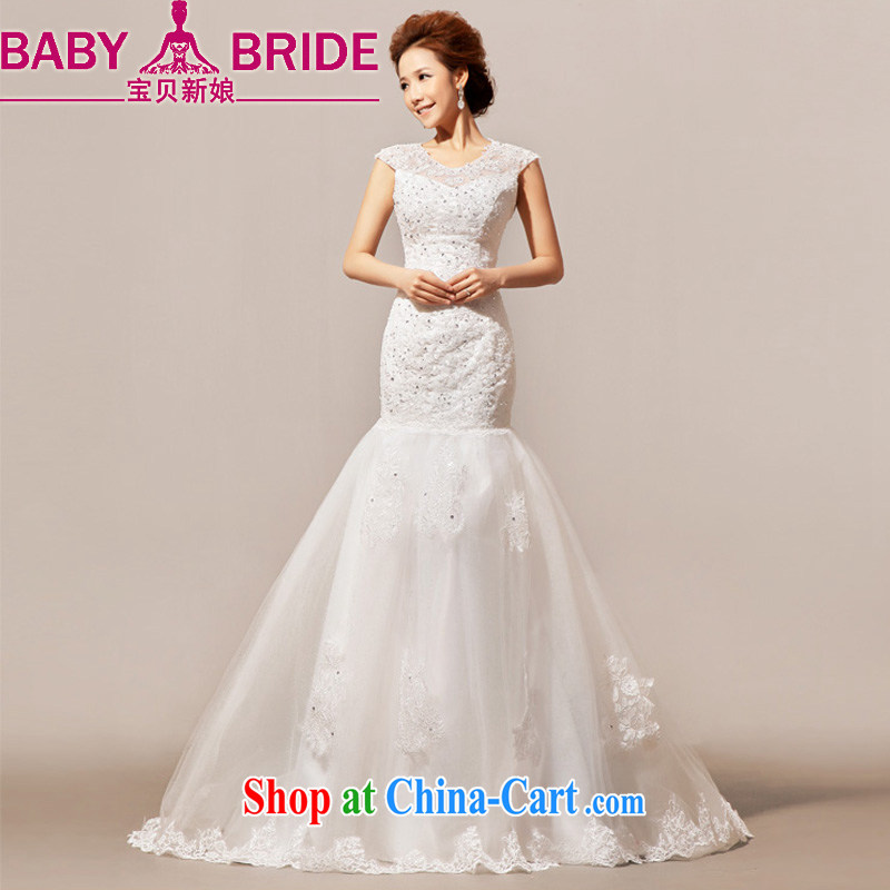 Baby bridal 2014 new Angel lace, small tail married Yi wedding dresses with drama, female white. Do not return - size please leave a message