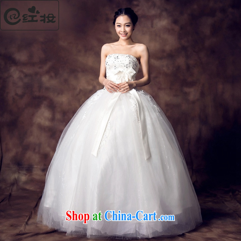 Recall that the red makeup spring and summer wedding dresses new 2015 bridal alignment to bind with bare chest bowtie water drilling Princess shaggy skirts H 13,706 white sexy beauty XL