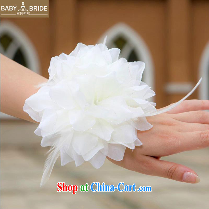 Baby bridal wedding photo building performances choral bridal bridesmaid/bride's chest flower/Wrist flower/head will be 3 a/Head spend 02 white