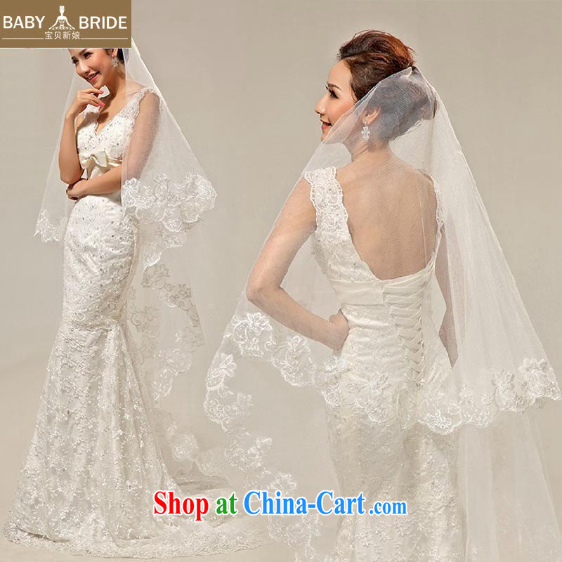 Baby bridal Bridal Fashion and legal wedding new, quality atmosphere and yarn 2.5 meters bridal head yarn