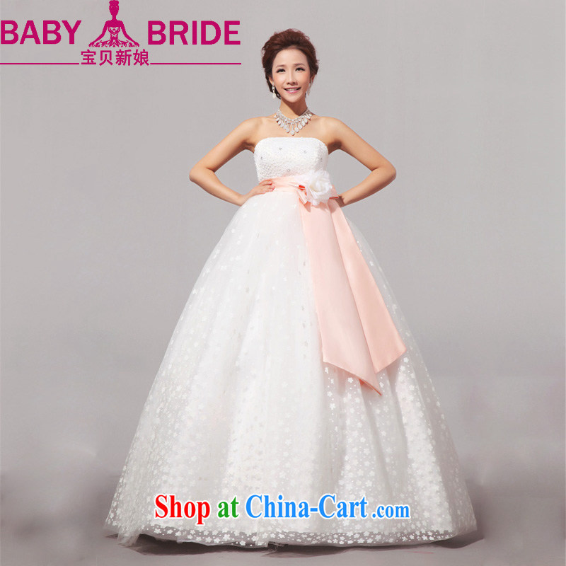 Baby bridal 2014 new sweet pregnant women the code Korean wedding wedding dress wiped chest wedding outdoor white. Do not return - size please leave a message