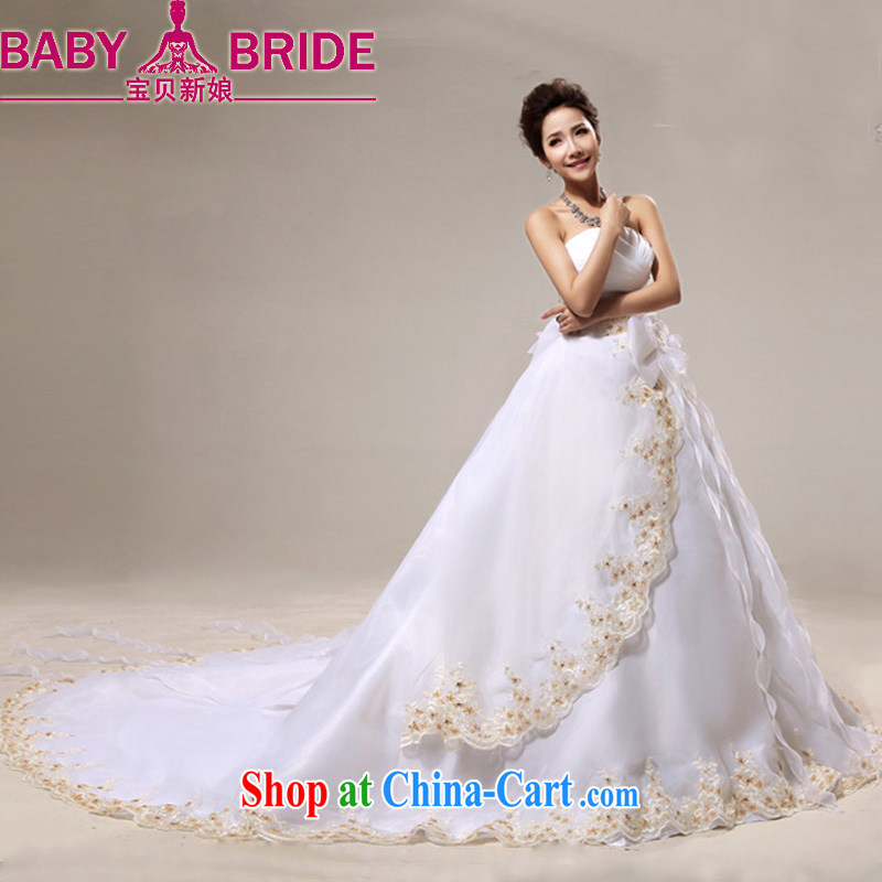 Baby bridal wedding new 2014 photo building photography bridal wipe the chest tail sweet flowers bowtie white. Do not return - size please leave a message