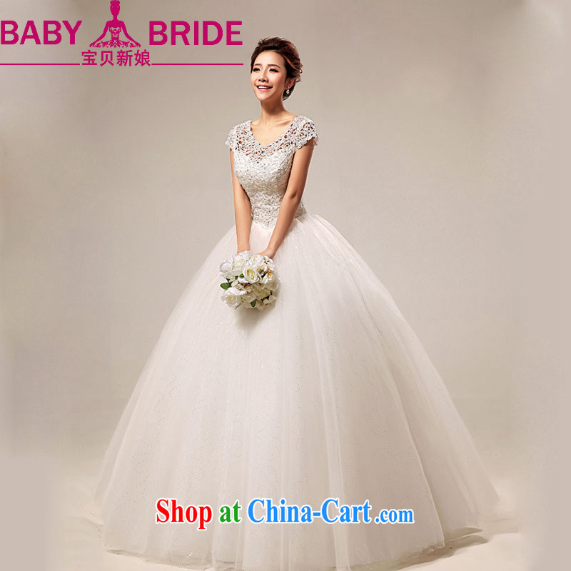 Baby bridal winter wedding 2014 new Korean version field shoulder sweet lace Princess with wedding white. Do not return - size please leave a message