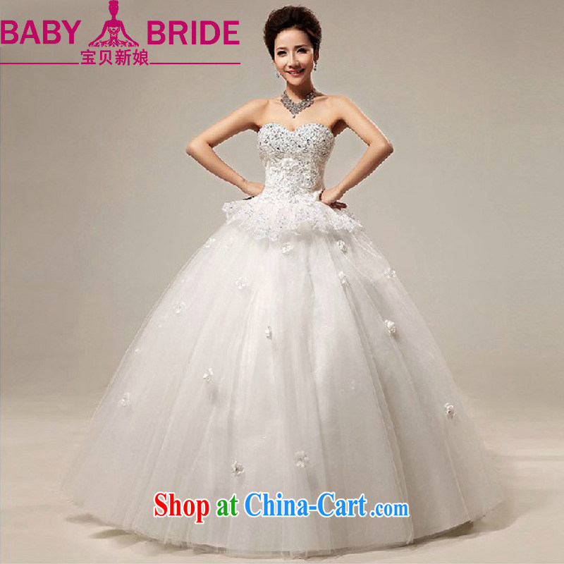 Baby bridal wedding dresses 2014 new sweet heart-shaped chest bare lace straps with marriages wedding white. Do not return - size please leave a message