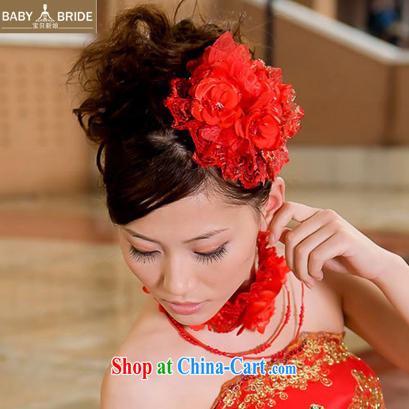 Baby bridal 2014 new wedding dresses with red Korean-style and spend + also spend - the bride's jewelry bridal and spend 06