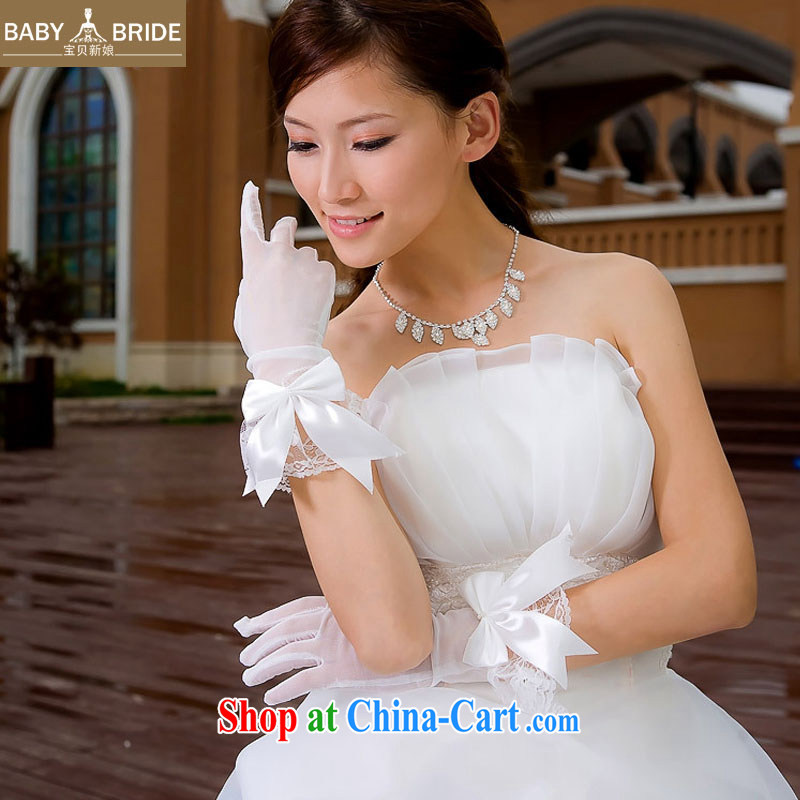 child bride marriages show choir/high-feed/high quality cotton yarn bow-tie/short gloves, 04
