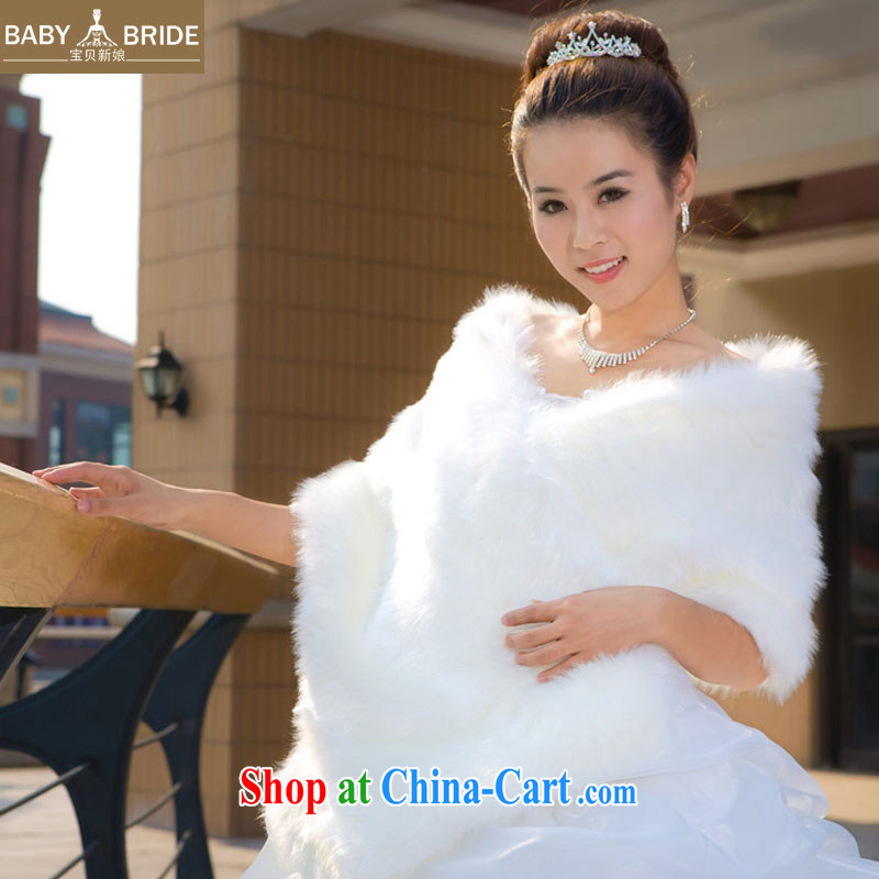 Baby bridal Special Offers new marriages wedding dresses multi-colored bridal jacket white spaniel hair shawl 08
