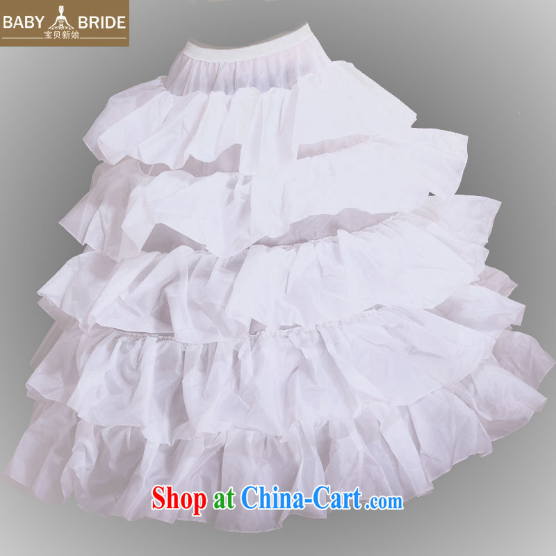 Baby bridal wedding dresses 2014 new 4 steel ring flouncing skirt stays large skirts before flouncing skirt spreader