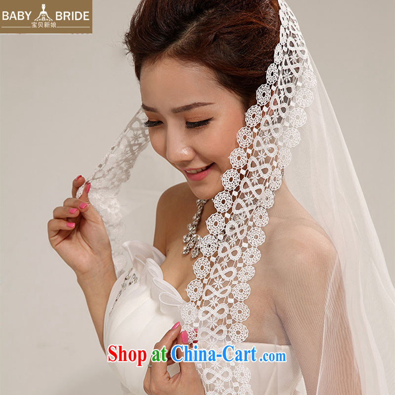 Baby bridal bridal and legal wedding new Korean long sweet lace and yarn wedding dresses accessories accessories TS 12