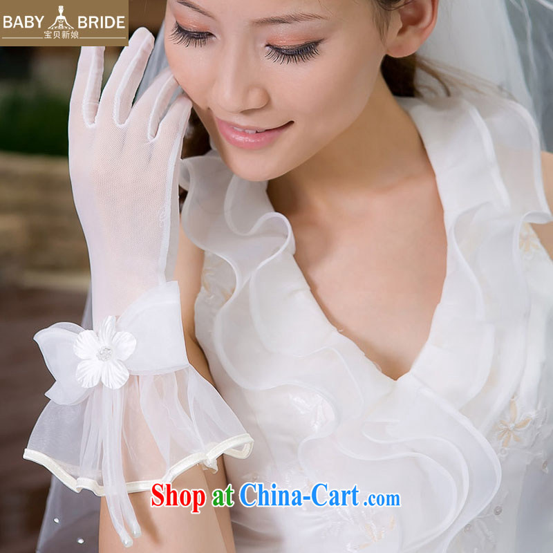 child bride marriages show choir/high-feed/high quality cotton yarn bow-tie/short gloves, 07