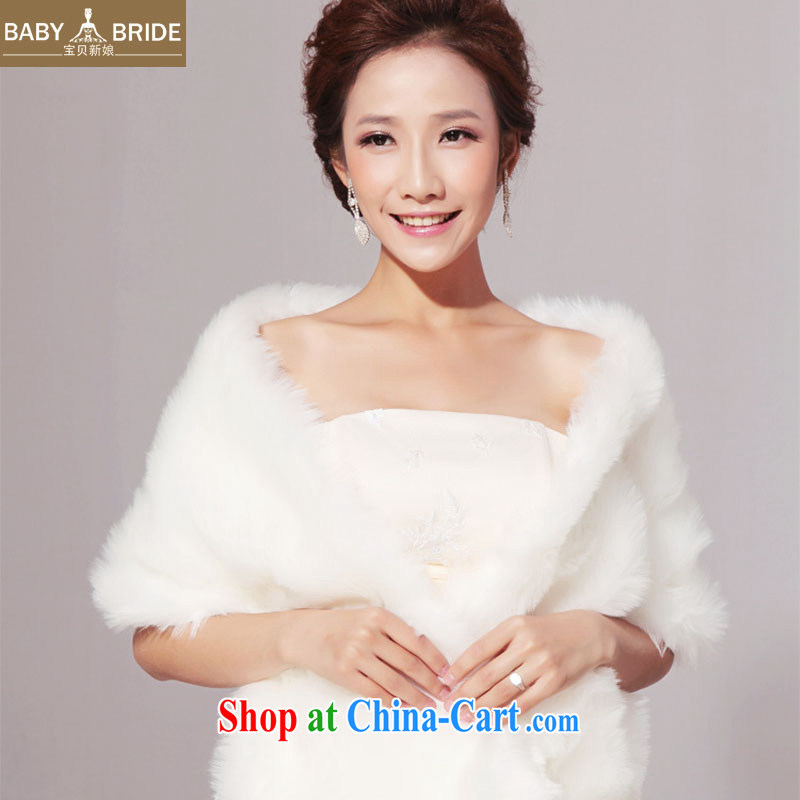 Hair shawl bridal shawls wedding dresses gross married her shawl shawl white extra long thick large size 03