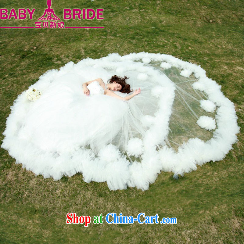 Baby bridal 2014 new bridal wedding dresses Korean version to remove the tail erase chest graphics thin tie white custom does not return - size please leave a message