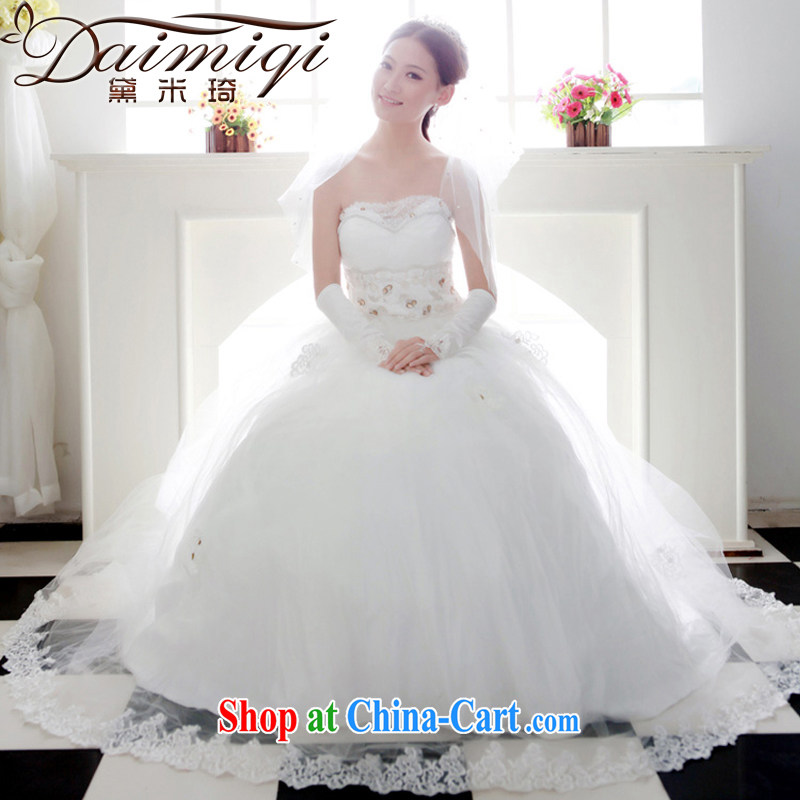 Diane M Ki wedding dresses new 2014 Korean Princess graphics thin wedding Deluxe lace three-dimensional wedding cream L