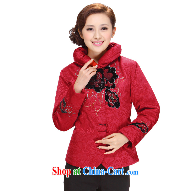 Tang Women's clothes winter clothes 2013 New, Old mother charm stylish Sau San Tong Load T-shirt jacket red 5XL