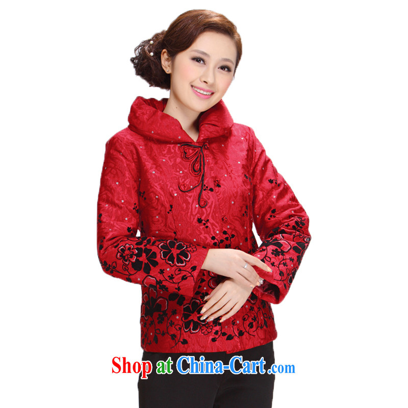 Tang Women's clothes winter clothes 2013 new, older MOM T-shirt jacket thick Ms. red 5 XL
