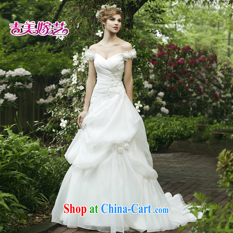 Vladimir Putin, and the wedding dresses Jimmy married arts 2013 New Field shoulder Korean Wedding Video thin-tail 673 bridal wedding ivory XXXL