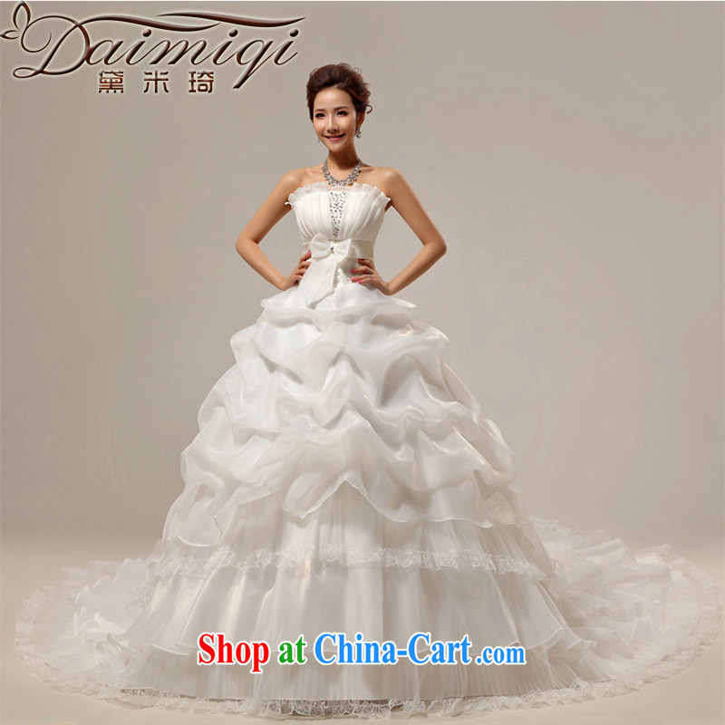 Diane M-kay wedding dresses new 2014 wedding-tail Princess Korean version of the greater, pregnant women the tail wedding White made it here