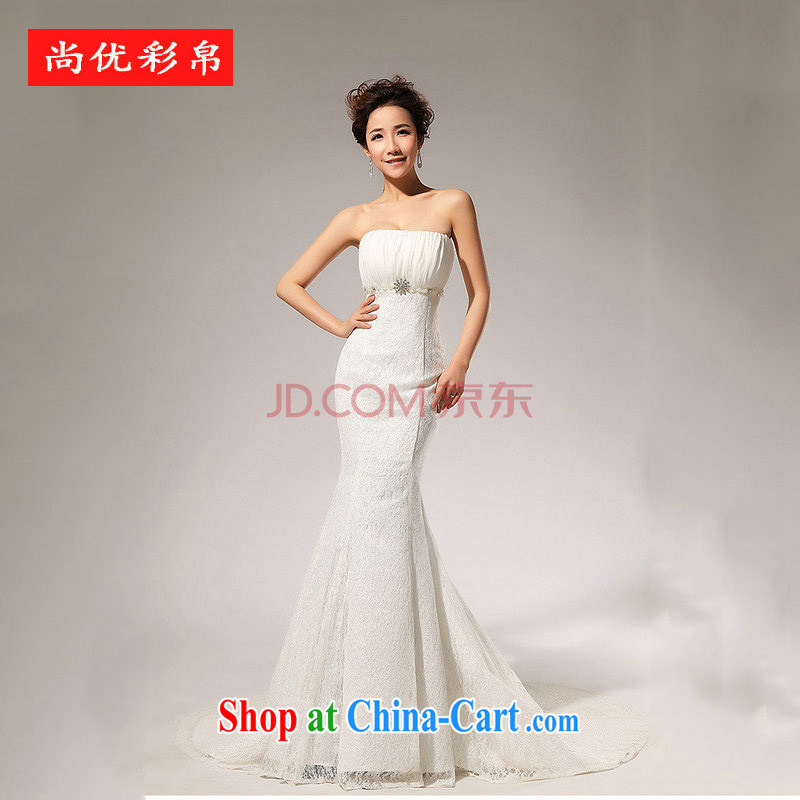 It is also optimized condolence new lace alignment to the waist skirt A erase chest wedding dresses skirts XS 5229 white XXL