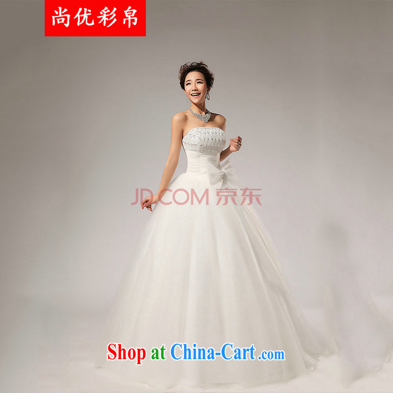 It is also optimized condolence new wedding chest bare Korean wedding dresses XS 5219 white XXL