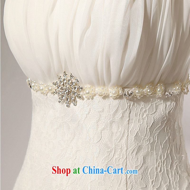 It is also optimized condolence lace alignment to the waist skirt A erase chest wedding dresses skirts XS 5211 white XXL, optimize color swords into plowshares, and shopping on the Internet