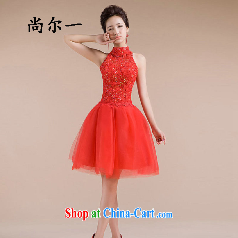 Taiwan's new dress is also Openwork embroidery work fine compact design small wedding dresses 2280 XS red XXL