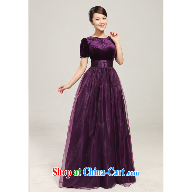 2013 new BMW blue wooden drill chorus fashion stage performance serving the long skirt choir uniforms custom purple custom