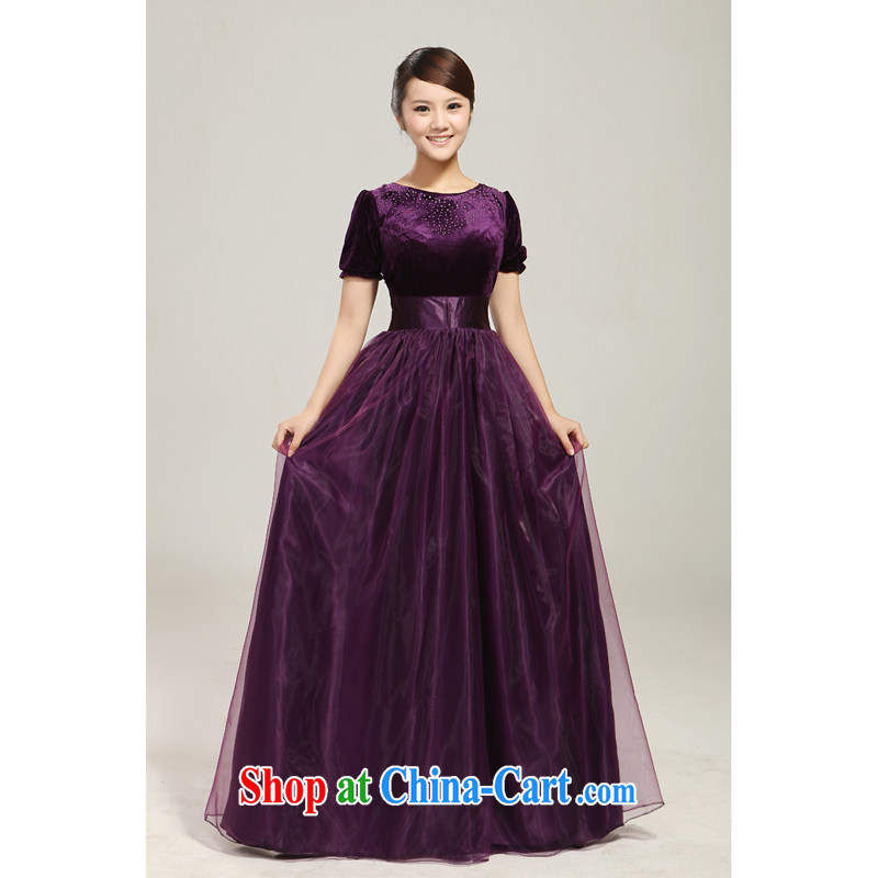 2013 new BMW blue wooden drill chorus fashion stage serving large long skirt choir uniforms custom purple custom, her spirit (Yanling), online shopping