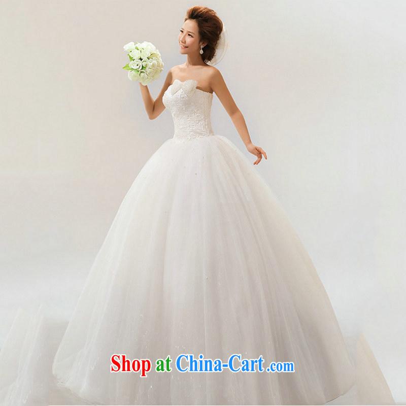 Optimize Hung-new wedding band Princess Korean wedding butterfly wedding dresses larger hot selling wedding XS 7170 M white XXL
