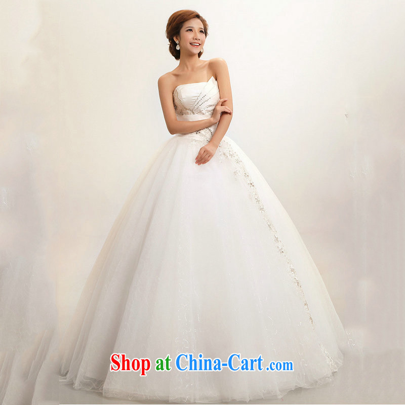 Optimize Hung-new Korean wiped his chest to marriages wedding dresses XS 7168 m White XXL