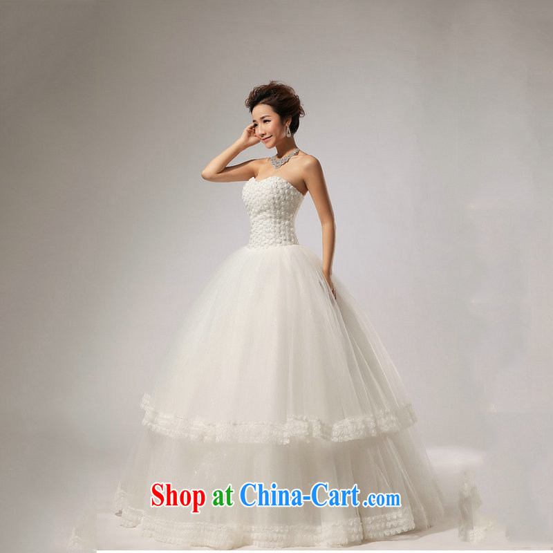 Optimize Hung-new, wipe the chest skirts the hotel concierge bridal wedding dresses XS 7165 m White XXL