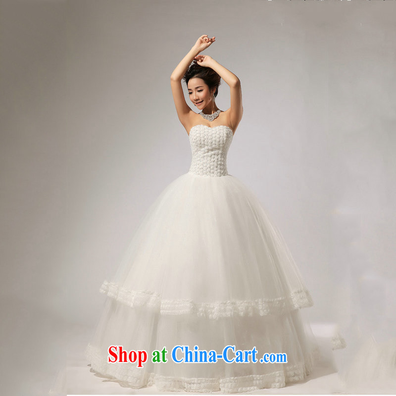 Optimize Hung-new, wipe the chest skirts the hotel concierge bridal wedding dresses XS 7165 m White XXL, optimize, and shopping on the Internet