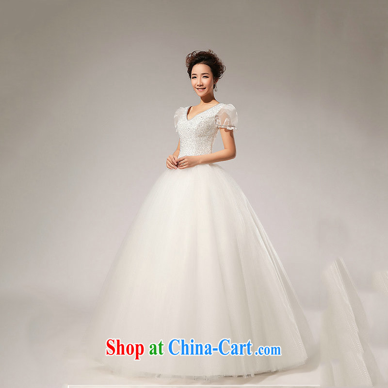 Optimize video wedding dresses bubble cuff sweet Princess 2014 New with lace shaggy wedding XS 7156 m White XXL