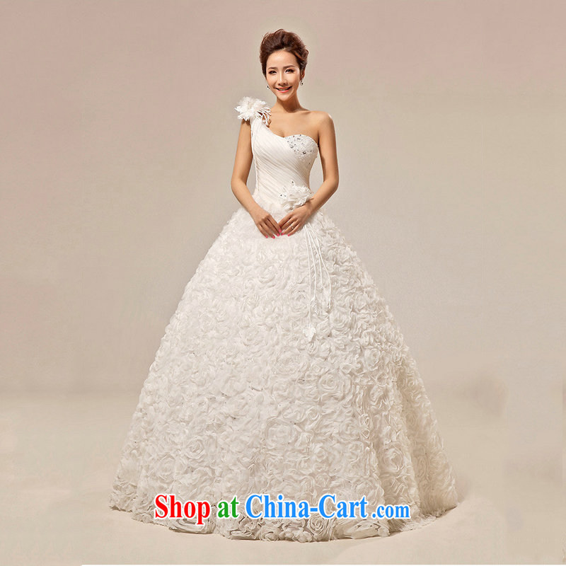 Optimize video wedding dresses new 2014 Korean lace Princess with bare chest bridal wedding, stylish retro dresses spring 7154 XS white XXL