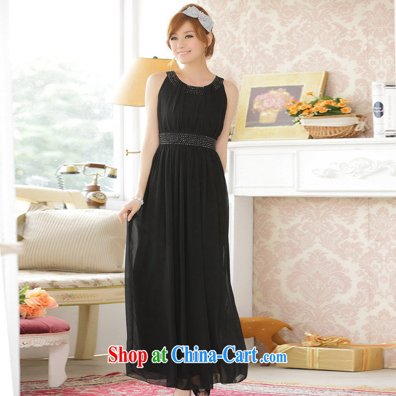 Europe and of high quality for the manual staple-ju long, snow-woven dresses dresses black XXXL